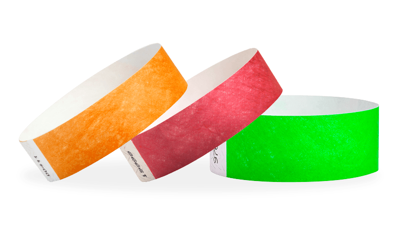 paper bracelets for events 3/4 solid color wristbands custom print is available.