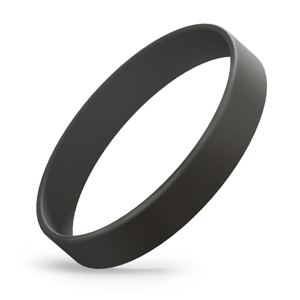 Custom Ink Injected (Black) Silicone Wristbands - Rubber Bracelets