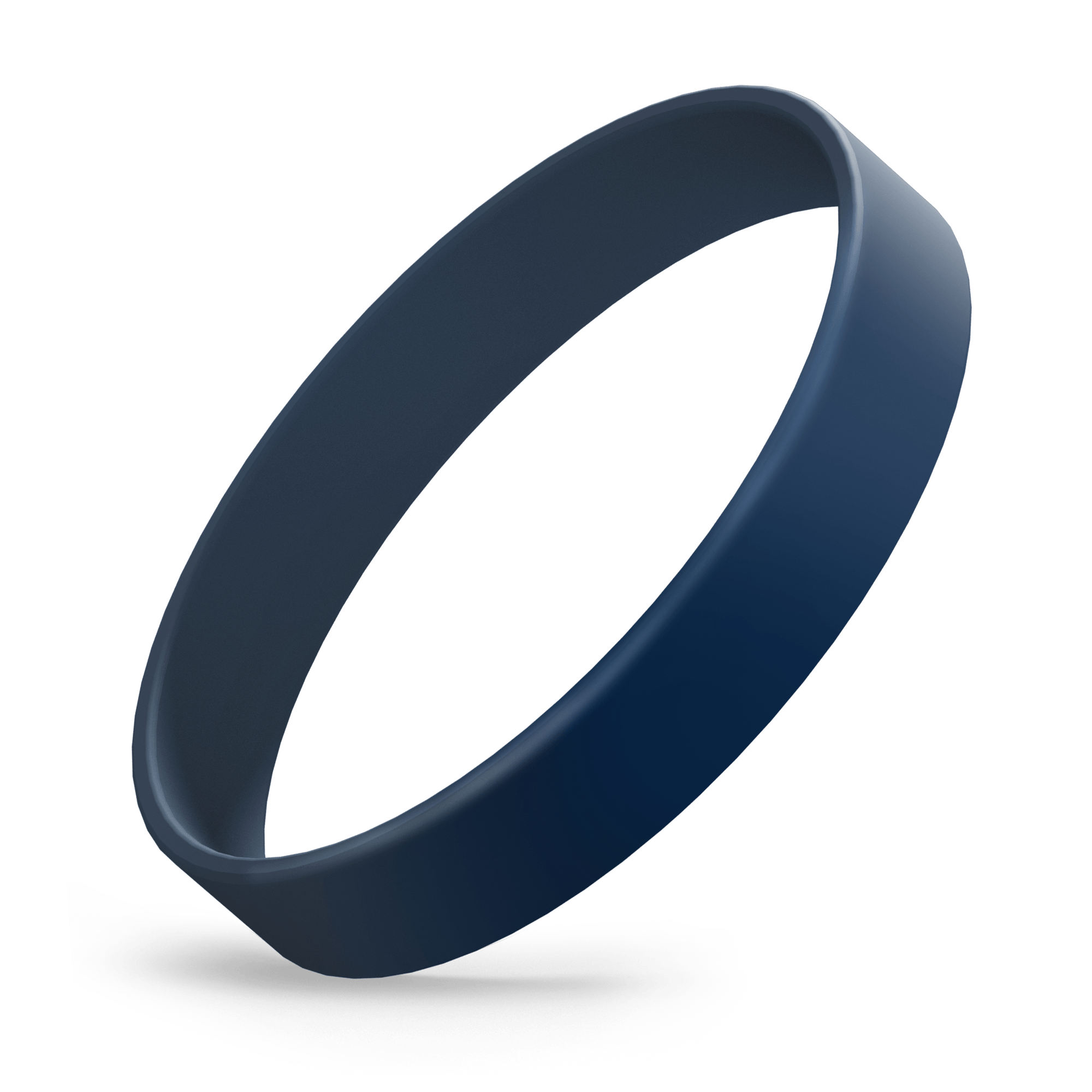 Custom Ink Injected (Navy Blue) Silicone Wristbands - Rubber Bracelets