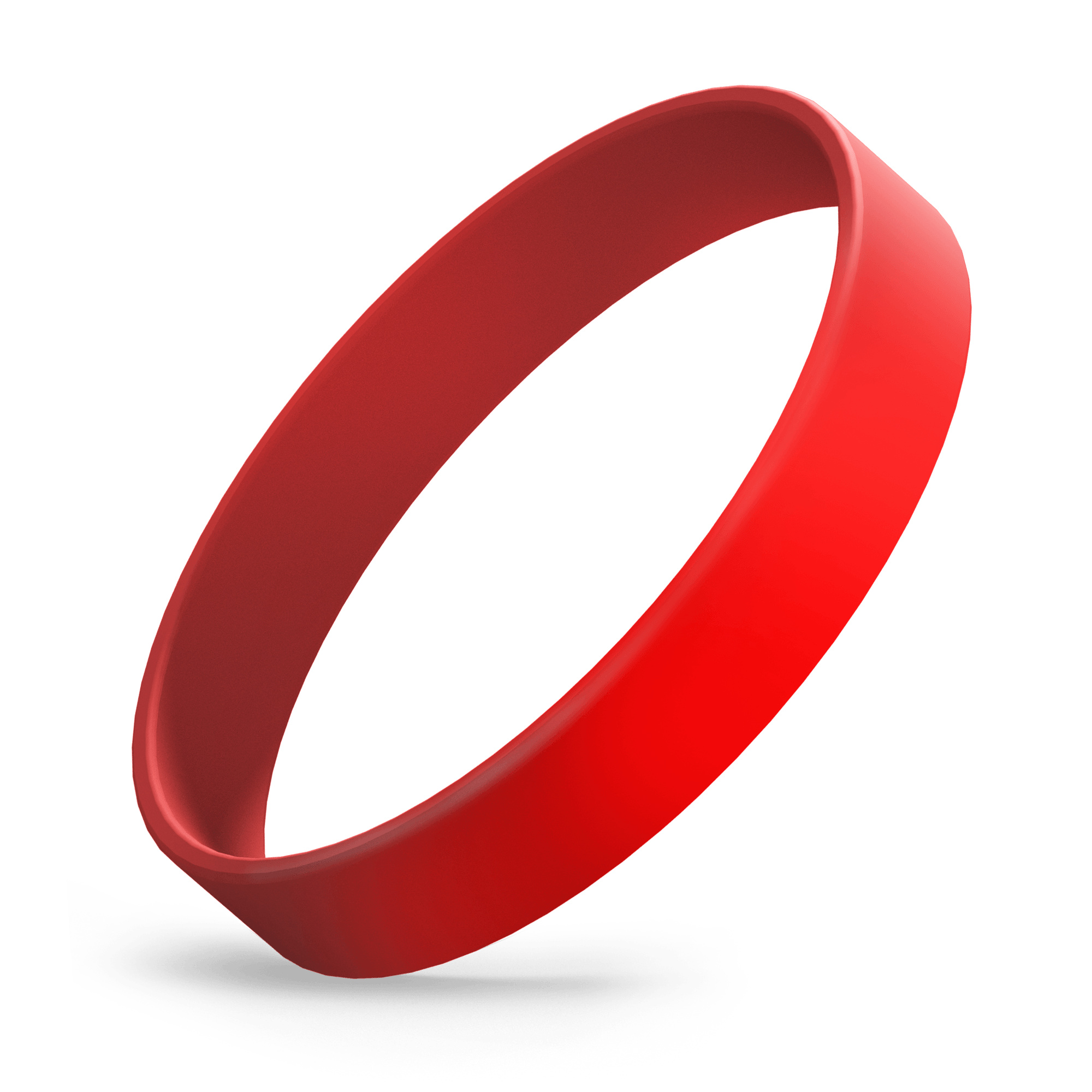 Custom Ink Injected (Red) Silicone Wristbands - Rubber Bracelets