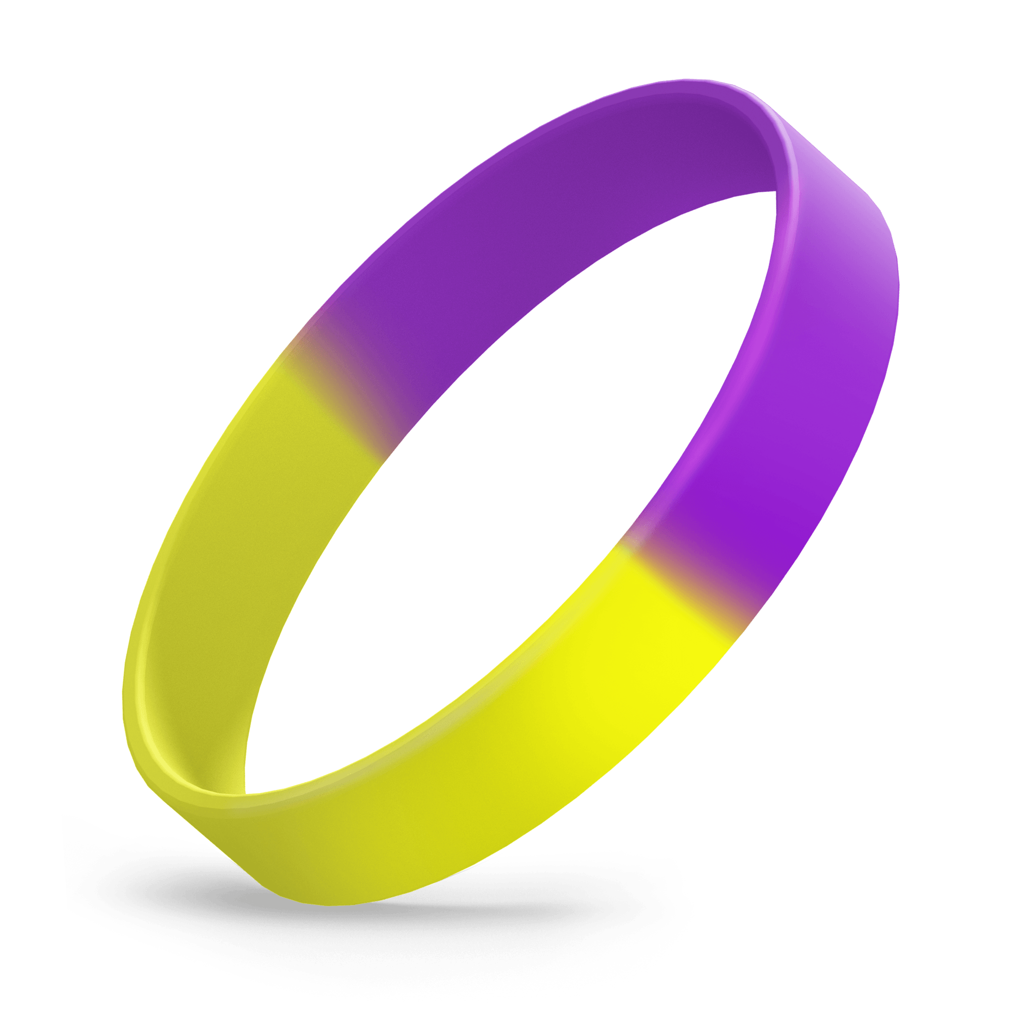 Ink Injected 1/2 inch (Yellow Gold / Purple Segmented)