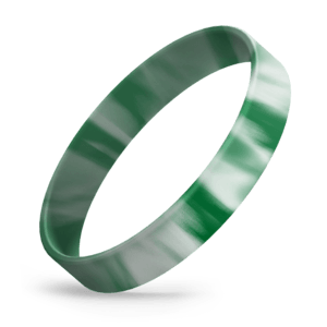 Dark Green / White Swirl