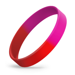 Red / Hot Pink Segmented