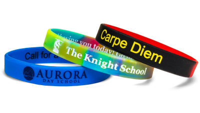 """set of 10 /""""make your own/"""" CUSTOM SILICONE WRISTBANDS :"""
