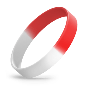 White / Red Segmented