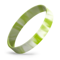 White/Lime Green Swirl thumbnail
