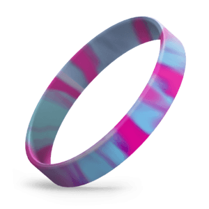 Hot Pink / Light Blue Swirl