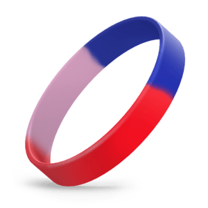 Red / Blue / Hot Pink Segmented