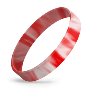 Red / White Swirl