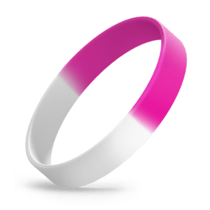 White / Hot Pink Segmented