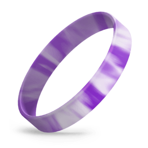 Purple / White Swirl