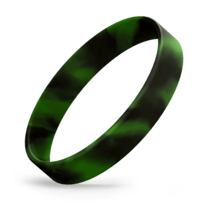 Black / Green Swirl