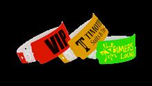 Custom Wide Plastic Wristbands