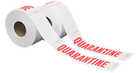 500 Feet Tyvek® Quarantine Sign & Barrier Tape