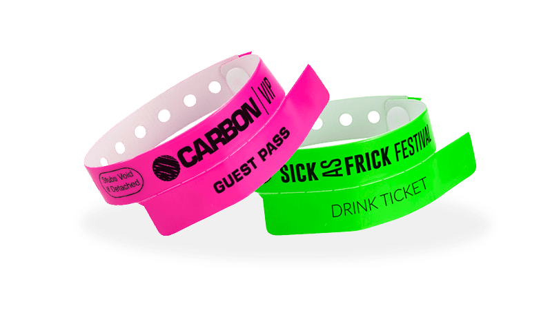 Custom Vinyl 1 tab Wristbands