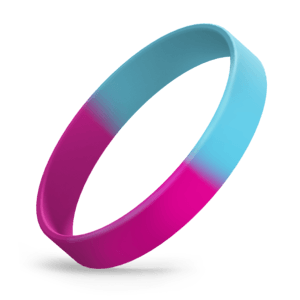Hot Pink / Light Blue Segmented