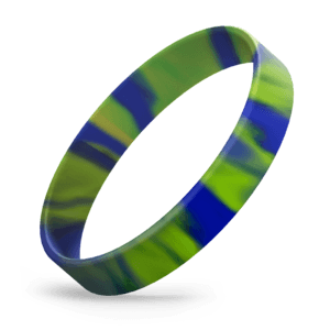 Blue / Lime Green Swirl
