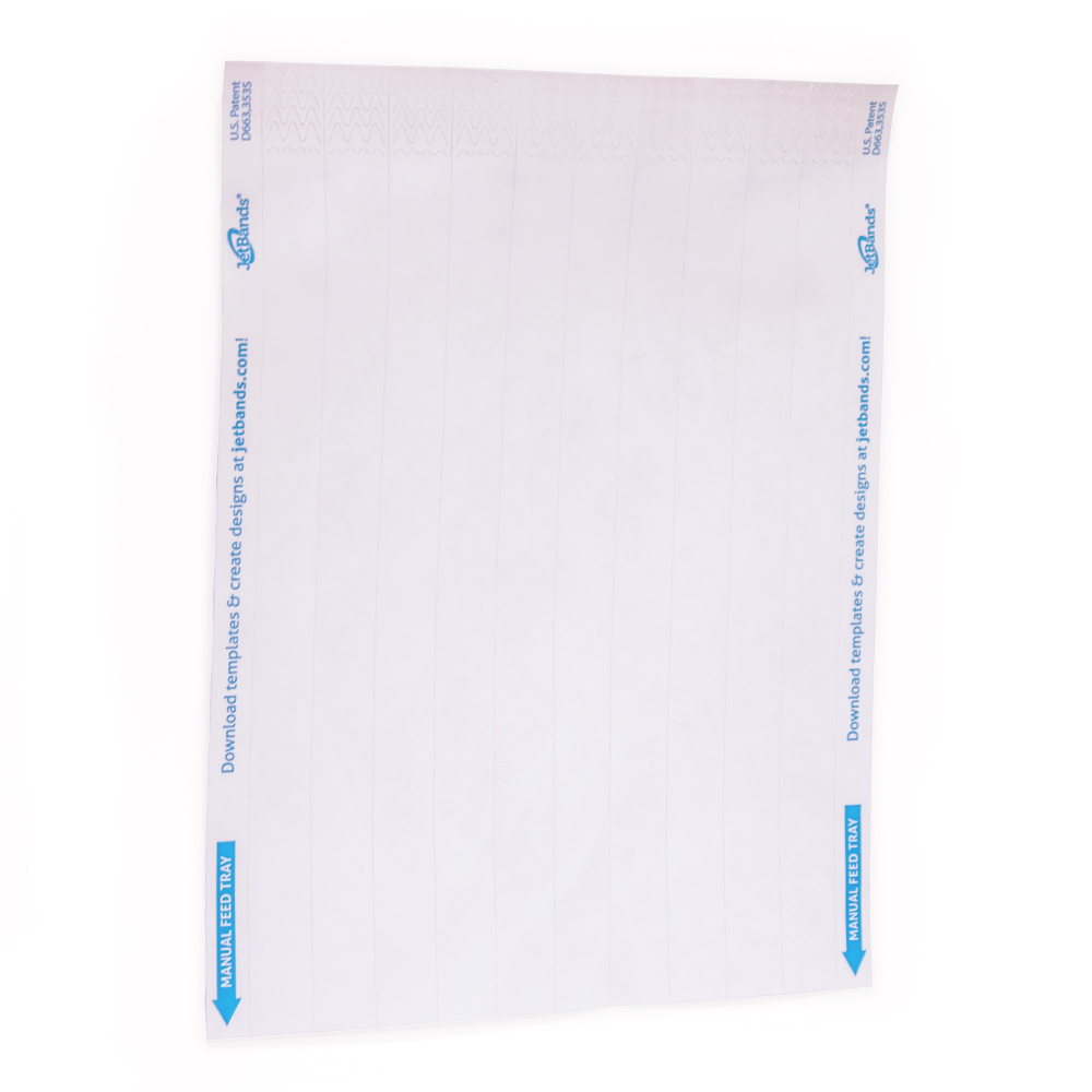 photograph about Printable Wristband Sheets named JetBands-Do It Oneself Inkjet Printable Tyvek® Wristbands - 100 Depend