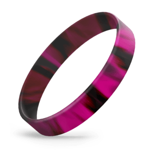 Black / Hot Pink Swirl