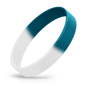 White / Teal Segmented