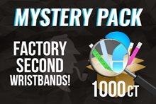 Factory second wristbands