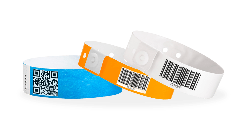 Barcode And Variable Data Wristbands
