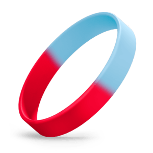 Red / Sky Blue Segmented