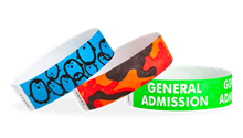 "3/4"" Design Tyvek® Wristbands"
