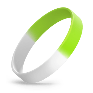 White / Lime Green Segmented