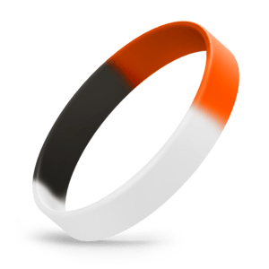 White / Black / Orange Segmented