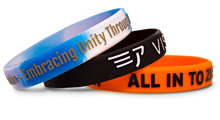 Embossed Printed Silicone Wristbands