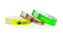 Custom Narrow Plastic Wristbands