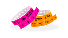 Custom Vinyl 5 tab Wristbands