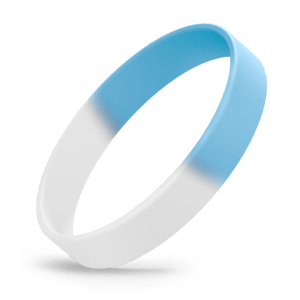 White / Light Blue Segmented