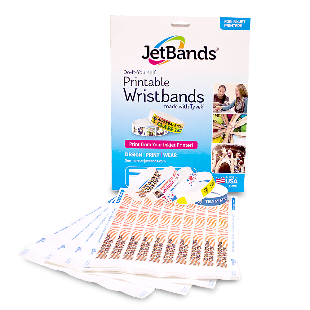 picture relating to Printer Printable identified as Jetbands - Printable Tyvek Wristbands