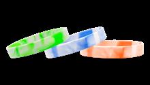Silicone Swirl Wristbands