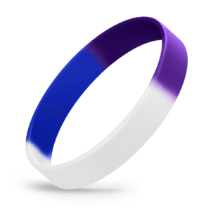 White / Blue / Purple Segmented