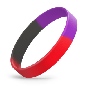 Red / Purple / Black Segmented