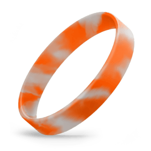 Orange / White Swirl