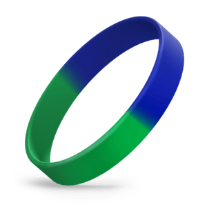 Green / Reflex Blue Segmented