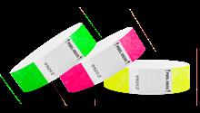 "3/4"" Tab-Free Tyvek® Wristbands"