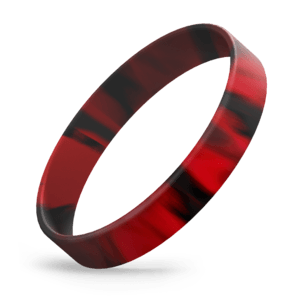 Black / Red Swirl