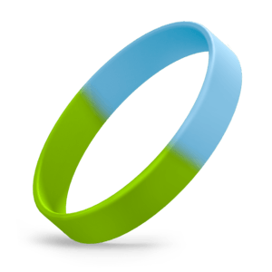 Bright Green / Bright Blue Segmented