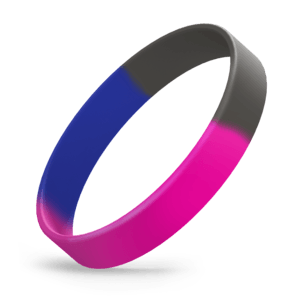 Hot Pink / Black / Blue Segmented