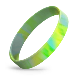 Lime Green / Yellow / Light Blue Swirl