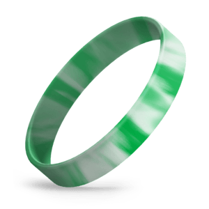 Green / White Swirl