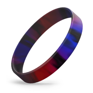 Red / Black / Blue Swirl