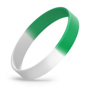White / Green Segmented